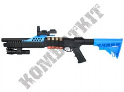 M180C2 Shotgun Pump Action Airsoft BB Gun Black and Blue